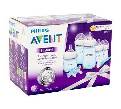 Philips Avent Natural Newborn Baby Bottle Starter Set, Blue, Bpa-free