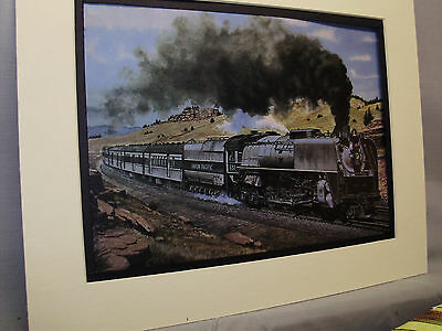 Union Pacific Overland Limited Steam By Fogg Artist Railroad Archives Museum  Hb
