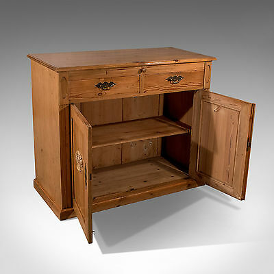 Antique French Pine Cabinet Cupboard - With Desk Slide - C1900