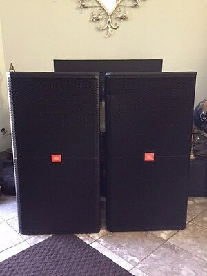 "Jbl Srx738 18"" High Power Three-way Speakers (one Pair) With Original Jbl Covers"
