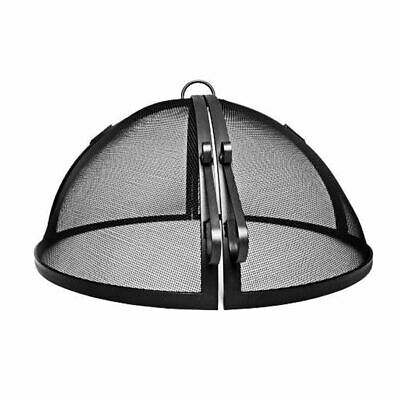 """55"""" Welded High Grade Carbon Steel Hinged Round Fire Pit Safety Screen"""