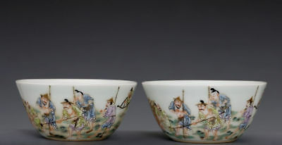 Exquisite Pairs Of Chinese Antique Famille Rose Porcelain Mark Yongzheng Fa062