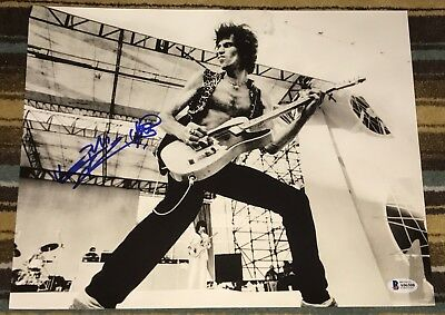Keith Richards Signed Autograph Rolling Stones Rare Vintage Guitar Photo Beckett