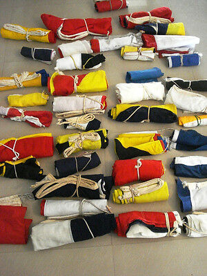 Lot Of 400 Pieces Vintage Naval Signal Pennants -  Ship