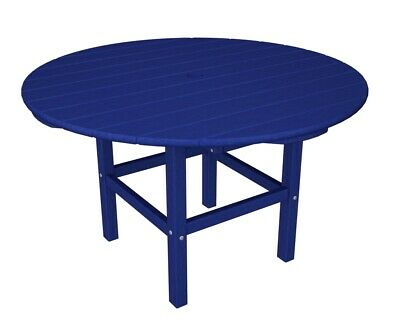 """Polywood Rkt38pb Kids 38"""" Dining Table In Pacific Blue"""