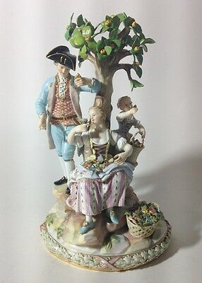 Beautiful Meissen Gardeners Group. Modeled By: Michel Victor Acie. Circa 1890