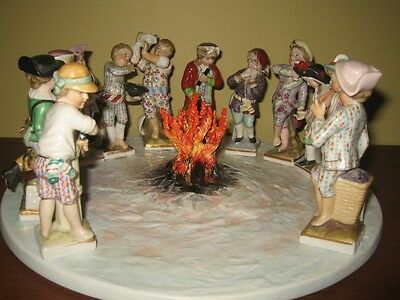Set Of 12 Months Porcelain Figurines, Made In Germany