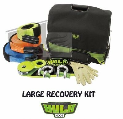 Hulk 4x4 Large Snatch Strap Recovery Kit Camping Fishing Diesel