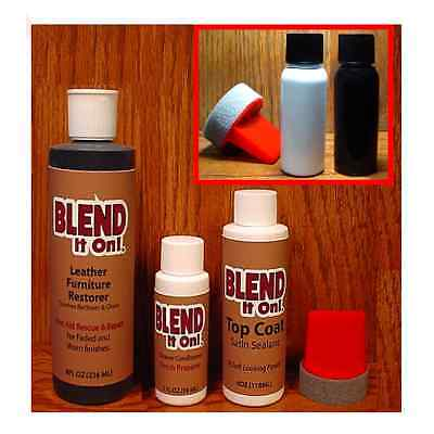 White ~ Furniture ~ Blend It On Tm ~ Mega Kit 7pcs Leather Refinish Restorer