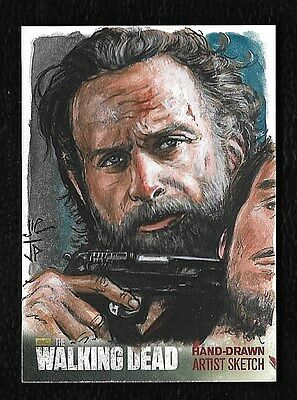 The Walking Dead Season 4 Part 2 Sketch Card 1/1 Rick Grimes Artist Potratz Hai