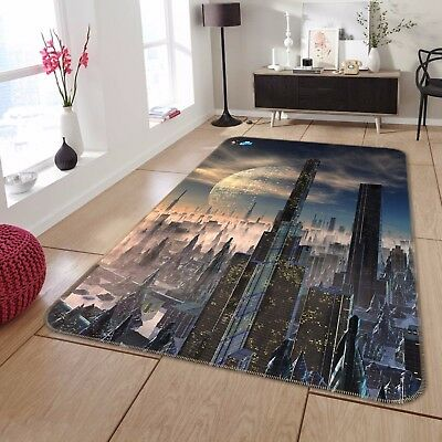 3d Alien World City 733 Non Slip Rug Mat Room Mat Round Elegant Photo Carpet Ca