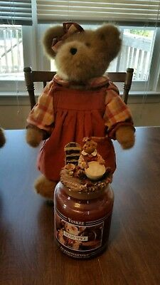 Boyds Bears Beary Spice Yankee Candle Bear Topper And Candle Very Rare