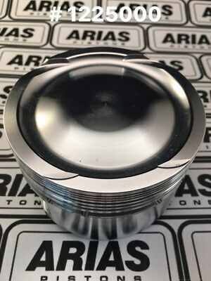 """Arias 3.650"""" 9.0:1 Dish Top Pistons For 2011-2017 Ford Mustang 5.0l 302 Boss"""