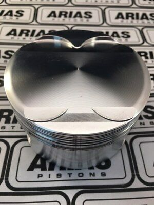 """Arias 3.631"""" 11.0:1 Dome Top Pistons For 2011-2017 Ford Mustang 5.0l 302 Boss"""