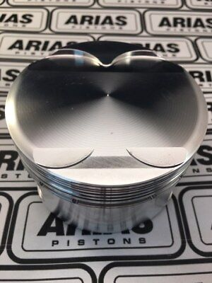 """Arias 3.650"""" 13.0:1 Dome Top Pistons For 2011-2017 Ford Mustang 5.0l 302 Boss"""