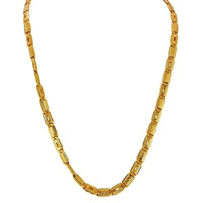 Gold Pure Yellow 18kt / 22kt Chain / Necklace Gold Box Flat Link Chain Hallmark