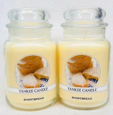 2 Yankee Candle Shortbread Short Bread Large 22 Oz Classic Jar Candle