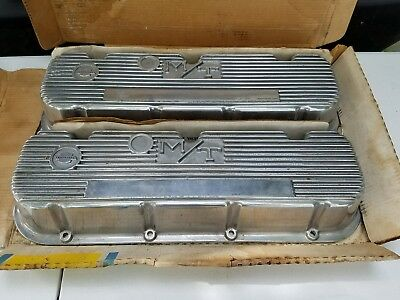 Nos Vintage Mickey Thompson Bbc Aluminum Valve Covers 396 402 427 454