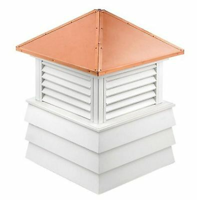 dover 60 in. x 60 in. x 85 in. louvered vinyl cupola home roof cover protect