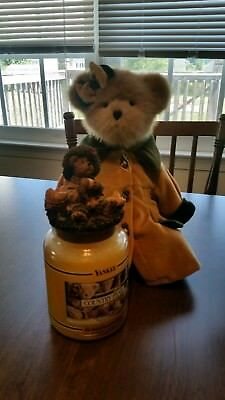 Boyds Bears Country Pear Yankee Candle Bear Topper And Candle Very Rare