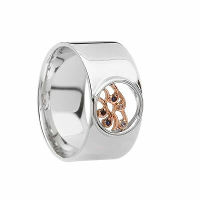 House Of Lor Sterling Silver Irish Gold Ladies Ninth Wave Ring H20098