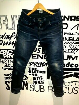 Butler Naked & Famous Elephant 22oz Dry Raw Denim Fades Jeans Size 30 Selvedge R