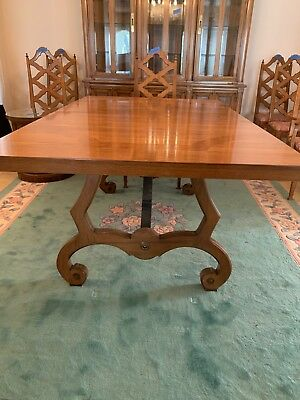 Thomasville Dining Table, 3 Leaves, Covers, 6 Chairs - 1964 Vintage Copyright
