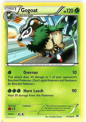 Pokemon XY Breakthrough Stage 1 Gogoat 17/162 NM Uncommon Grass