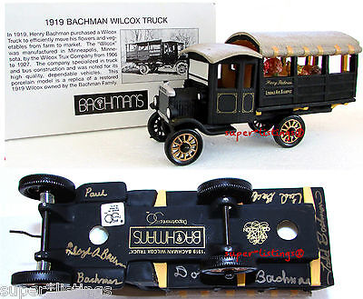Dept. 56 Bachman's 1919 Wilcox Truck Signed By 5 Bachman's Family Members 08803