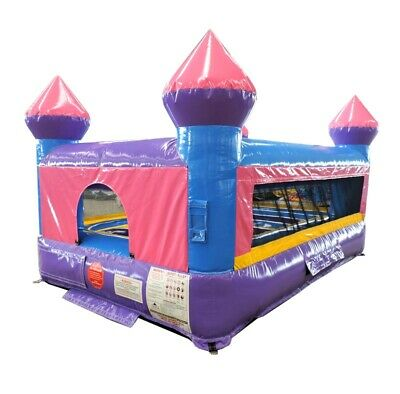 Pink & Purple Commercial Inflatable Indoor Bounce House Kids Jumper With Blower
