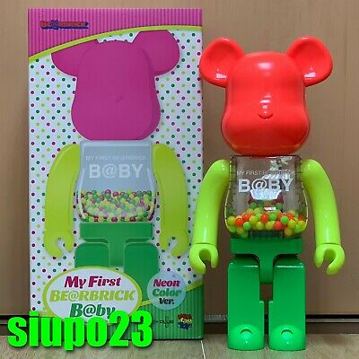 Medicom 1000% Bearbrick ~ My First Baby Neon Version Be@rbrick