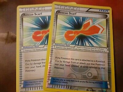 Rescue Scarf Dragons Exalted 115 Double (x2) 1 Reverse 1 Regular Pokemon Cards