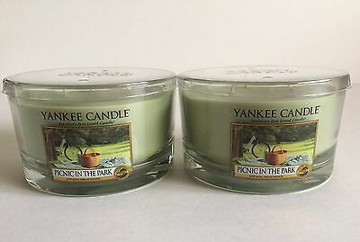 Yankee Candle Picnic In The Park Olive Green 3 Wick Soy Wax Candles 2 Count Set