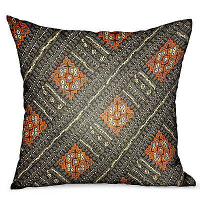 Plutus Cobalt Lattice Blue Geometric Luxury Outdoor/indoor Throw Pillow Doubl...