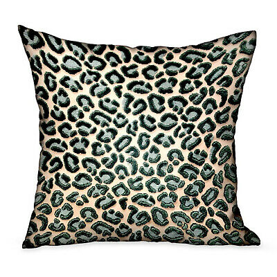 Plutus Jade Velvet Cheetah Green Animal Motif Luxury Throw Pillow Double Side...