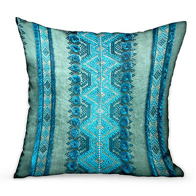 Plutus Alexandrite Stripe Green Geometric Luxury Throw Pillow Double Sided 12...