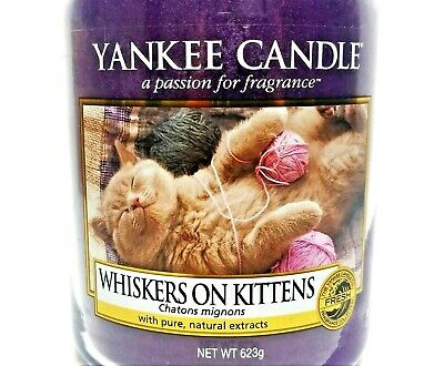 """Yankee Candle""""whiskers On Kittens""""my Favorite Things~large 22 Oz~white Label~new"""