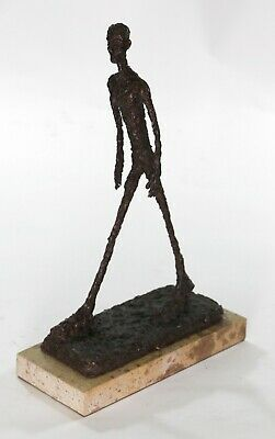 Modern Art Deco Walking Male Stick Bronze Figurine Hot Cast Home Decor Statue