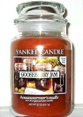 "Yankee Candle Retired ""gooseberry Jam""~limited Edition~large 22 Oz.~ Rare ~ New"