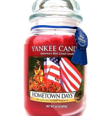 "Yankee Candle Retired ""hometown Days"" Large 22 Oz~white Label ~ Rare"