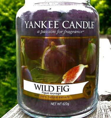 """Yankee Candle Retired """"wild Fig"""" ~ Large 22 Oz ~ White Label~very Rare ~ New"""