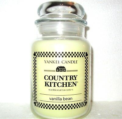 "Yankee Candle Retired Country Kitchen ""vanilla Bean""~ Large 22 Oz ~ Rare~new"