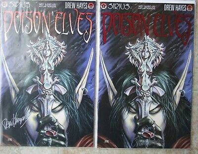 Sirius Drew Hayes Poison Elves #1-50+ Vf/nm - Two Signed #1 (1 Red Foil Variant)