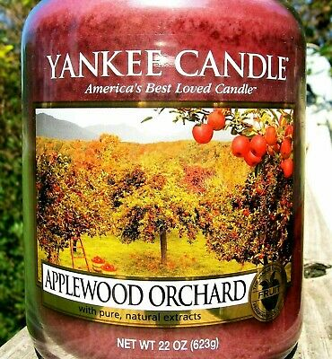 """Yankee Candle Retired """"applewood Orchard""""~ Large 22 Oz ~ White Label~ Rare~ New"""