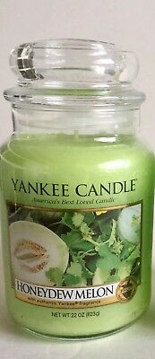 Yankee Candle Honeydew Melon Green Wax Scented Candle 22 Oz. Discontinued