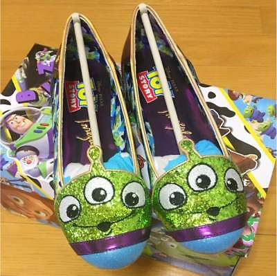 Disney Irregular Choice Toy Story Alien Pumps Shoes Flats 37 Us 6.5 Mint Ic047