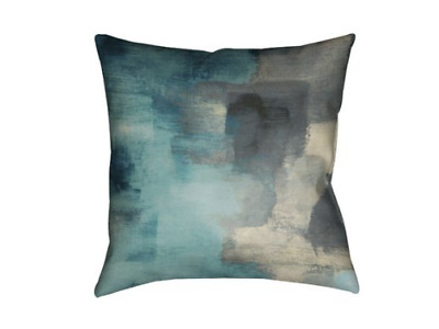 Throw Pillow Case Cushion Sofa Cover Home Decorative Cotton Linen, Blue Square
