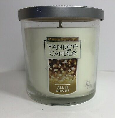 Yankee Candle All Is Bright Scent 7 Oz Small Tumbler Candle One Wick