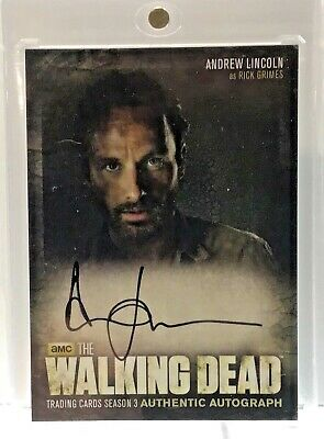 2014 Topps The Walking Dead Season 3 Andrew Lincoln Auto Rick Grimes Autograph