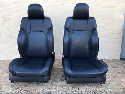 Lexus 08-14 Is-f Front Black Leather Heated Seats Set Right & Left Isf Is F Oem